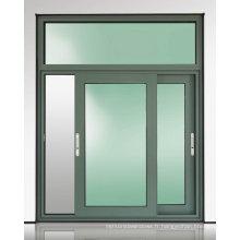 Vente chaude double vitrage en aluminium / aluminium en métal fixe verre coulissante et fenêtre à battants