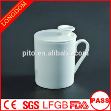 Factory directly high quality porcelain coffee mug with lid