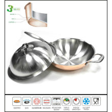 3 Ply as Seen TV Copper Chinese Wok