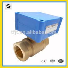 Válvula de bola eléctrica supermini DC3-6V DC12V DC24CV para el tratamiento del sistema de agua