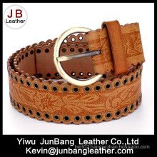 Woment′s Embossed Fashion Jeans PU Belt