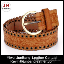 Womens's Embossed Fashion Jeans PU Belt