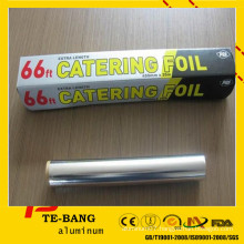 8011 1235 3003 packing foil OEM colour box packing household aluminum foil for food fresh wrap