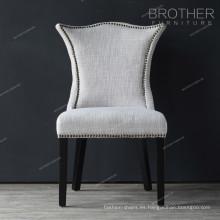 Nuevo modelo de decoración de la familia de lujo Living comedor tela silla