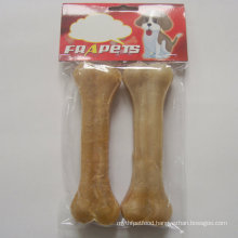 "Dog Chew Natural Rawhide Pressed Bone (6.5"")"