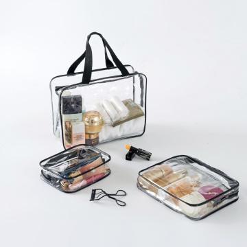 Sacchetti cosmetici in pvc trasparente con sacchetto di trucco