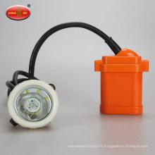 Mine mine à l'épreuve de la batterie au lithium mineur Lampe Lampe à mine rechargeable