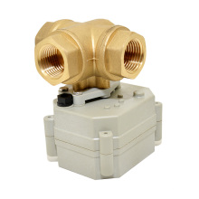 OEM 3 Way Electric Water Control Valve Mini Motorized Valve with Manual Operation