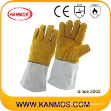Перчатки для сварки в промышленной безопасности из натуральной кожи (11119)