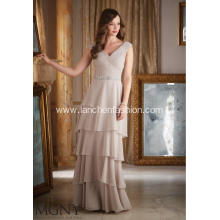 Sexy V-neck Ruched Empire Line Evening Dress