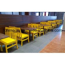 4-Sitzer Holz Esstisch und Stuhl für Restaurant (FOH-RTC02)