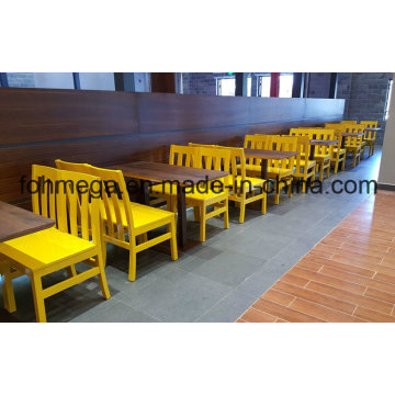 4 Seater Wood Dining Table and Chair for Restaurant (FOH-RTC02)