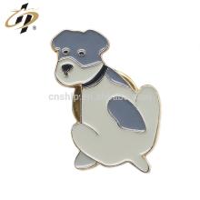 Promotionnel die cut personnalisé émail chien animal pin métal revers