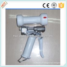 Pistolet de lavage robuste en acier inoxydable à couvercle blanc
