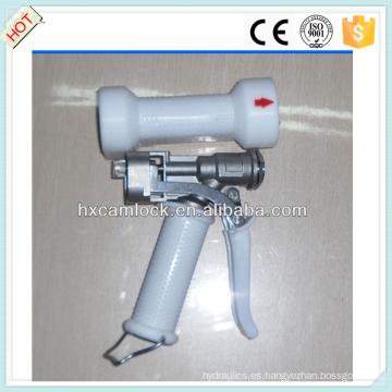 Pistola de lavado resistente de acero inoxidable con cubierta blanca