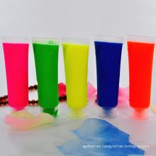 Paquetes de tubos de colores de pintura de neón UV
