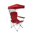 Wholesale folding metal chair portable fishing foldable chair with sunshade