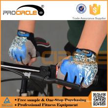 Großhandelskundenspezifische halbe Finger-Übungs-Fahrrad-Handschuhe