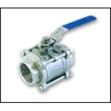 3-PC S / S- Válvula de bola roscada