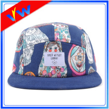 Dye Sublimation Woven Label 5 Panel Hat