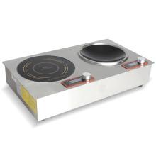 Cuisinière à induction intégrée à 2 brûleurs avec minuterie