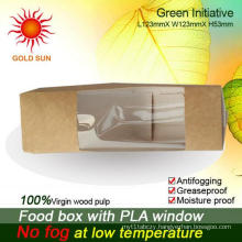 Cheap Fast Food Box Packaging with Antifogging Window