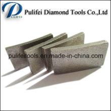 Diamant de coupe de dents de granit a vu le segment de marbre de segment