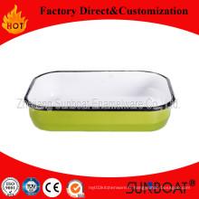 Assiette émaillée de vaisselle de Sunboat / émail plat / plateau de beurre d'émail