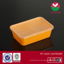 Take-away-Kunststoff-Food-Container (sk 750 Oranger mit Deckel)