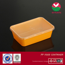 Takeaway Plastic Food Container (sk 750 oranger with lid)