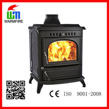 CE Classic WM704A, freestanding decorative wood burning cast iron fireplace