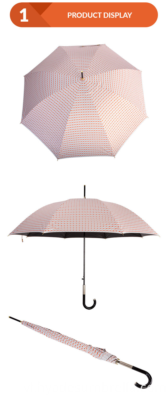 Windproof Auto Open Stick Umbrella