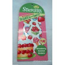 Пользовательский пищевой царапины и нанюхатель наклейки, наклейка с ароматом пищевых продуктов, ароматная наклейка