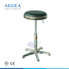 AG-NS008 adjustable stainless steel hospital stool by gas spring