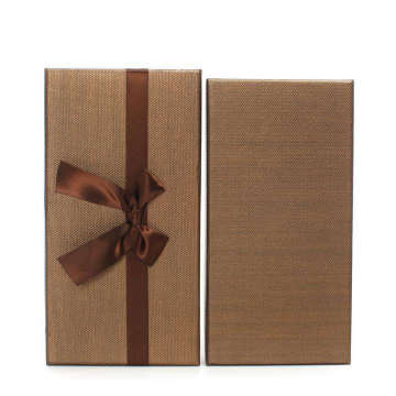 Cardboard Apparel Packing Box With Knot Bow