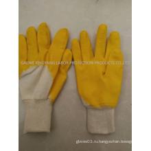 Трикотажные латексные трикотажные латексные трикотажные перчатки