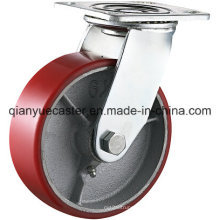 5X2 Inch Heavy Duty Cast Iron Core PU Caster