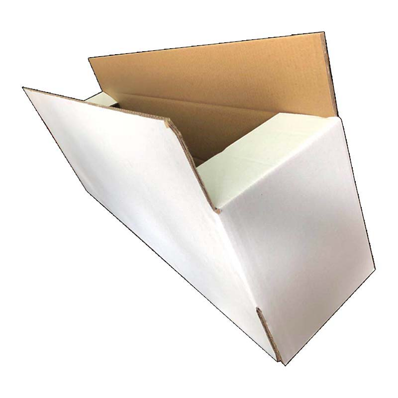 Three Layers Of White Cardboard Boxes