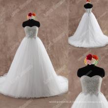 LS0124 Enfeites decorativos de strass em laço de alta qualidade em forma de contas vestido de casamento de cristal