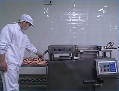 sausage linker working process