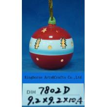 Bola de suspensão cerâmica decorativa de árvore de natal