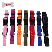 Wholesale 7colors 4sizes Dog Flea Collar Nylon Webbing Dog Pet Collar
