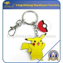 Porte-clés en métal de Pokemon de vente chaude