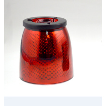 2015 Red Candle Holder with Stars