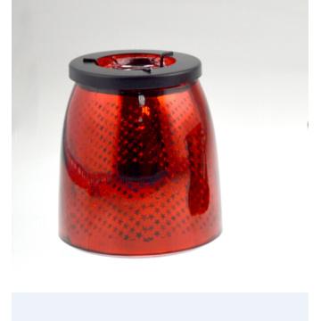 Красная держатель свечей с звездами