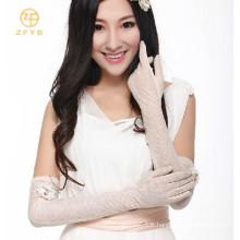 Mesdames, protection solaire, direction, écran tactile, gants en dentelle