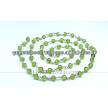 Natural Peridot Gemstone Beaded Chains, Wholesale Gemstone Jewelry Manufacturer