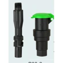 Válvula de acoplamiento rápido de alta resistencia plástica