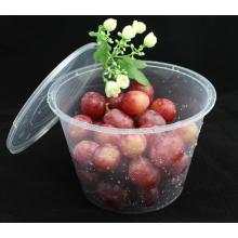 Venta al por mayor alta seguridad resistente al calor ronda PP microondas contenedor de alimentos seguros con tapa