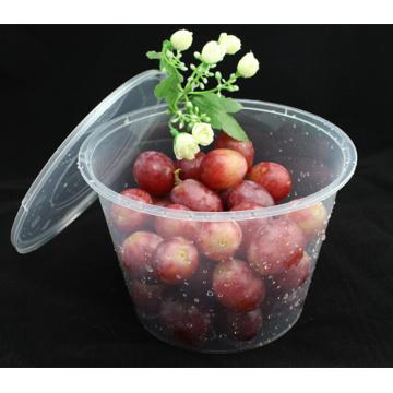 Atacado High Insurance Resistente ao calor Round PP microondas seguro recipiente de alimentos com tampa